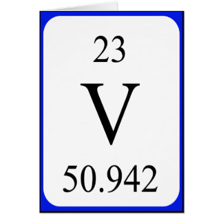Tarjeta del elemento 23 - blanco del vanadio