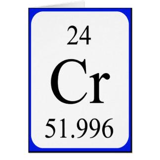 Tarjeta del elemento 24 - blanco del cromo