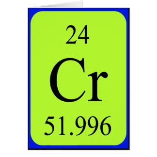 Tarjeta del elemento 24 - cromo