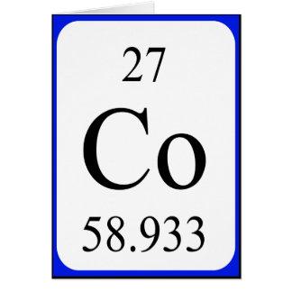 Tarjeta del elemento 27 - blanco del cobalto