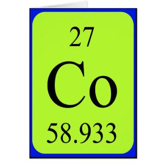 Tarjeta del elemento 27 - cobalto