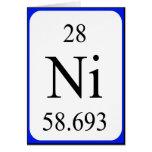Tarjeta del elemento 28 - blanco del níquel