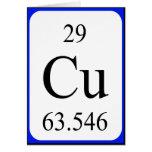 Tarjeta del elemento 29 - blanco de cobre