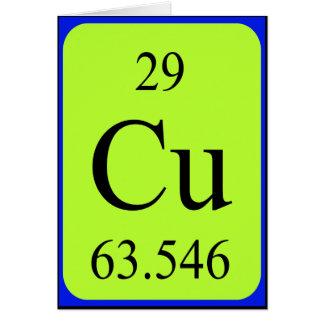Tarjeta del elemento 29 - cobre