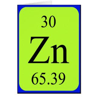 Tarjeta del elemento 30 - cinc