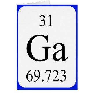 Tarjeta del elemento 31 - blanco del galio