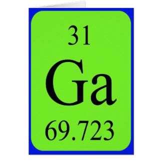 Tarjeta del elemento 31 - galio