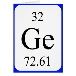 Tarjeta del elemento 32 - blanco del germanio
