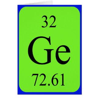 Tarjeta del elemento 32 - germanio