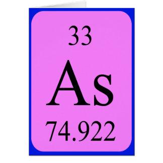Tarjeta del elemento 33 - arsénico