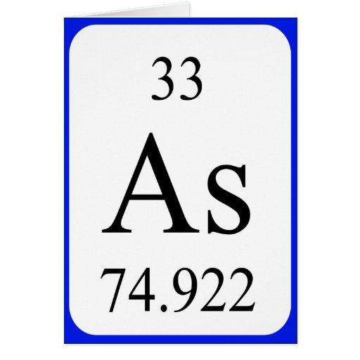 Tarjeta del elemento 33 - blanco arsénico