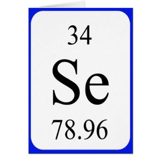 Tarjeta del elemento 34 - blanco del selenio