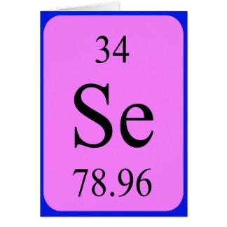 Tarjeta del elemento 34 - selenio