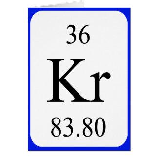 Tarjeta del elemento 36 - criptón
