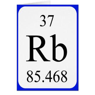 Tarjeta del elemento 37 - blanco del rubidio