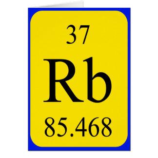 Tarjeta del elemento 37 - rubidio