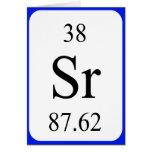 Tarjeta del elemento 38 - blanco del estroncio