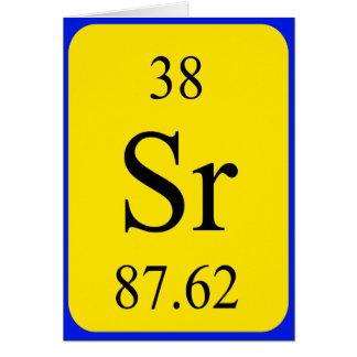 Tarjeta del elemento 38 - estroncio