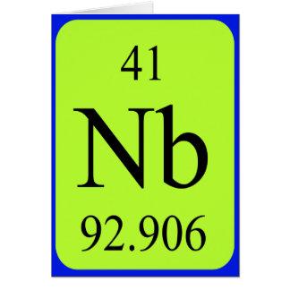 Tarjeta del elemento 41 - niobio