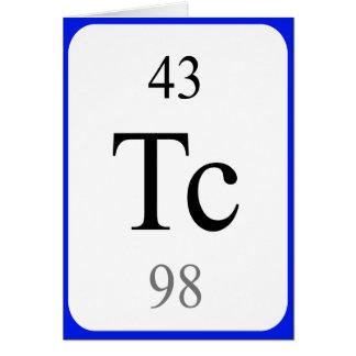 Tarjeta del elemento 43 - blanco del tecnetio