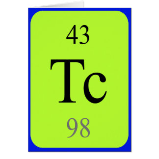 Tarjeta del elemento 43 - tecnetio