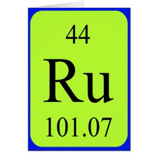 Tarjeta del elemento 44 - rutenio