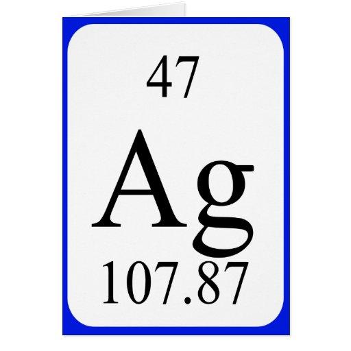 Tarjeta del elemento 47 - blanco de plata