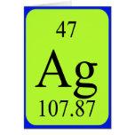 Tarjeta del elemento 47 - plata
