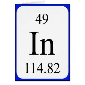 Tarjeta del elemento 49 - blanco del indio