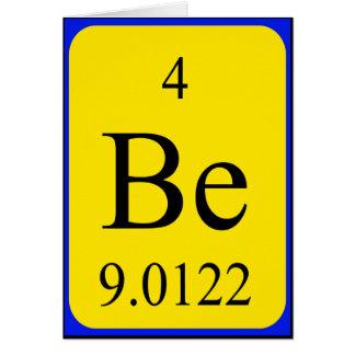 Tarjeta del elemento 4 - berilio