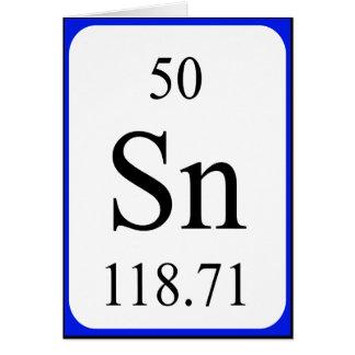 Tarjeta del elemento 50 - blanco de la lata