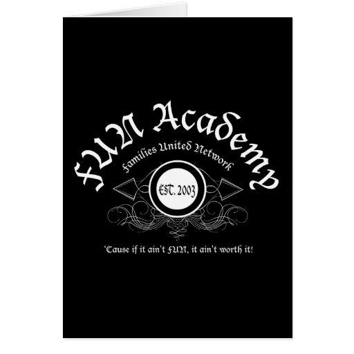 Tarjeta del emblema de la academia de la DIVERSIÓN
