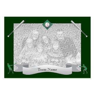 Tarjeta del equipo de béisbol tarjeta de visita