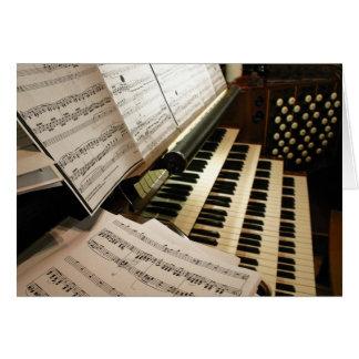 Tarjeta del escritorio de música de órgano