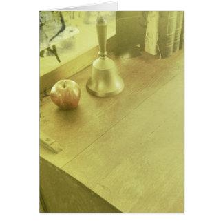 Tarjeta del escritorio del profesor