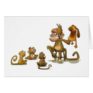 Tarjeta del espectáculo de marionetas del mono (es