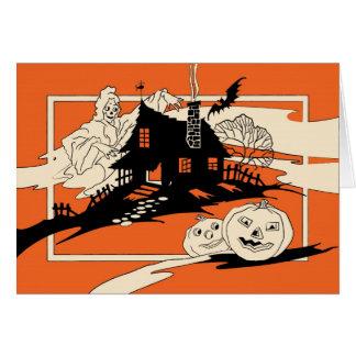 Tarjeta del espíritu necrófago de Halloween