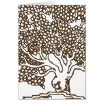 Tarjeta del esquema del árbol