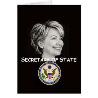 Tarjeta del estado de Hillary