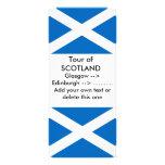 Tarjeta del estante con la bandera de Escocia Lonas Personalizadas