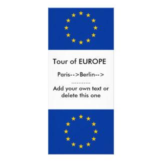 Tarjeta del estante con la bandera de Europa Lonas Personalizadas