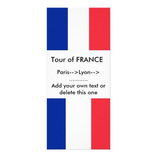 Tarjeta del estante con la bandera de Francia Tarjetas Publicitarias