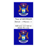 Tarjeta del estante con la bandera de Michigan, lo Lonas Publicitarias