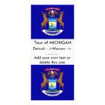 Tarjeta del estante con la bandera de Michigan, Lonas Publicitarias