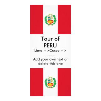 Tarjeta del estante con la bandera de Perú Tarjetas Publicitarias