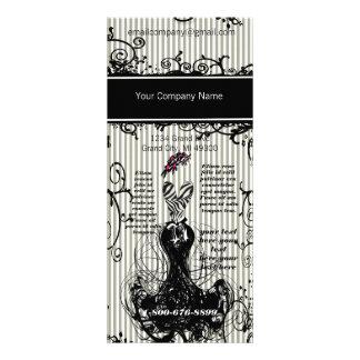 Tarjeta del estante de la diva de la moda diseños de tarjetas publicitarias