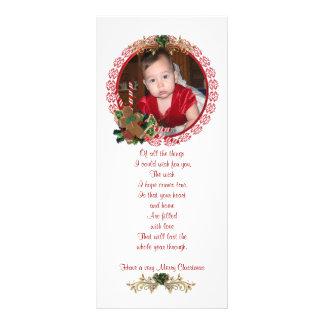 Tarjeta del estante de la foto del navidad tarjeta publicitaria