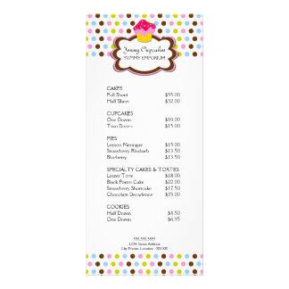 Tarjeta del estante de la panadería de la magdalen lona personalizada