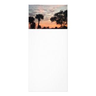 Tarjeta del estante de la puesta del sol de la Flo Tarjeta Publicitaria Personalizada