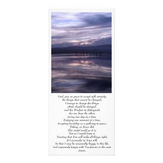 Tarjeta del estante de la puesta del sol de la ser lona publicitaria